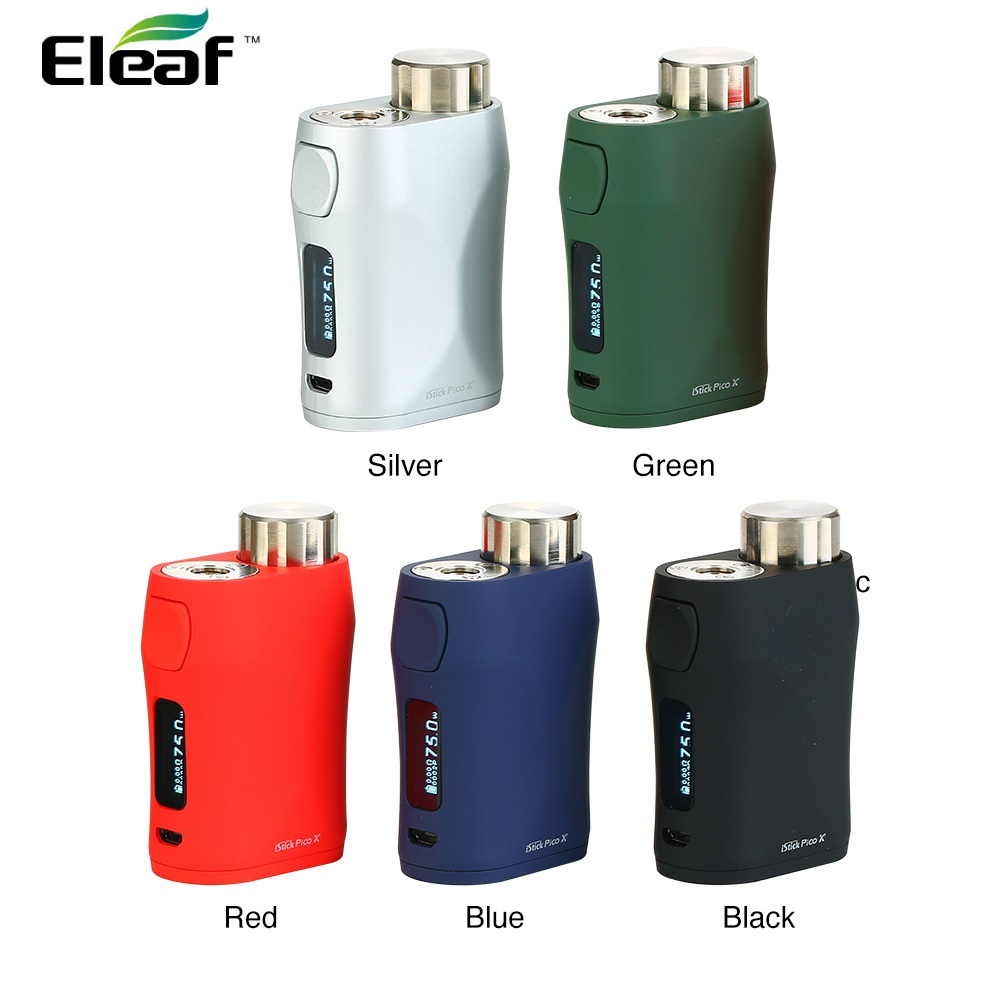 100% Original Eleaf iStick Pico X 75W Max Output TC Box MOD with 0.69-inch Screen & Wattage Recommending System No Battery Vape