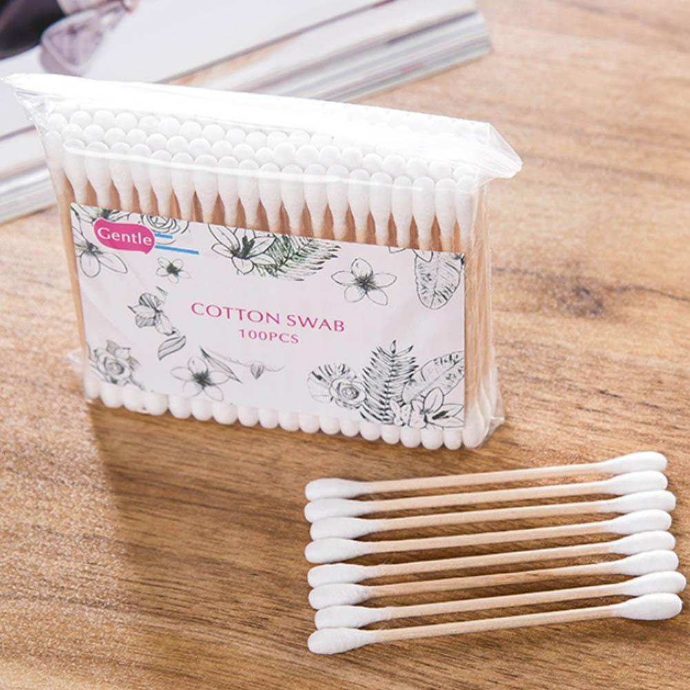 500 Swipes Multifunctional Bamboo Cotton Swabs Medical Ear Cleaning Wood Sticks Makeup Health Tools Tampons