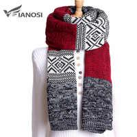 Moda VIANOSI 2019 bufanda de invierno Bufandas de Mujer Bufandas Mujer gruesa cálida Patchwork Sjaal marca Foulard Femme Hijab