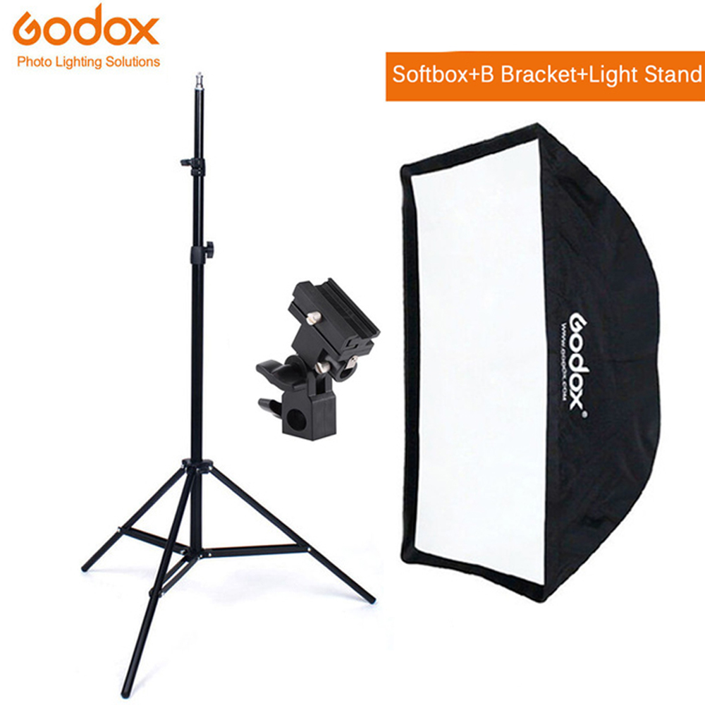 Godox 50*70cm Umbrella Softbox Bracket Light Stand Kit For Strobe Studio Flash Speedlight Photography