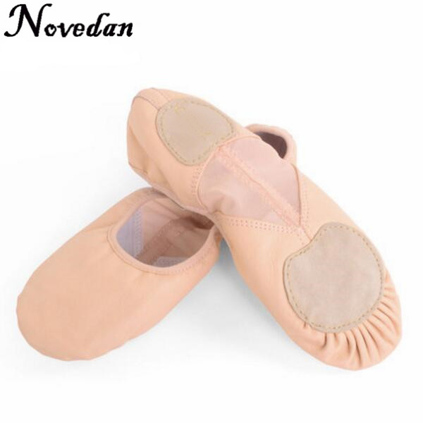 Professional Leather Ballet Shoes Pink Stretch Flat Slippers Salsa Ballet Dance Shoes For Girls Children WomanProfessional Leather Ballet Shoes Pink Stretch Flat Slippers Salsa Ballet Dance Shoes For Girls Children Woman