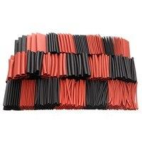 428 шт Красный Черный полиолефин h-тип Термоусадочные трубки для мотоцикла обмотка кабеля комплекты проводов Ассорти обертывания