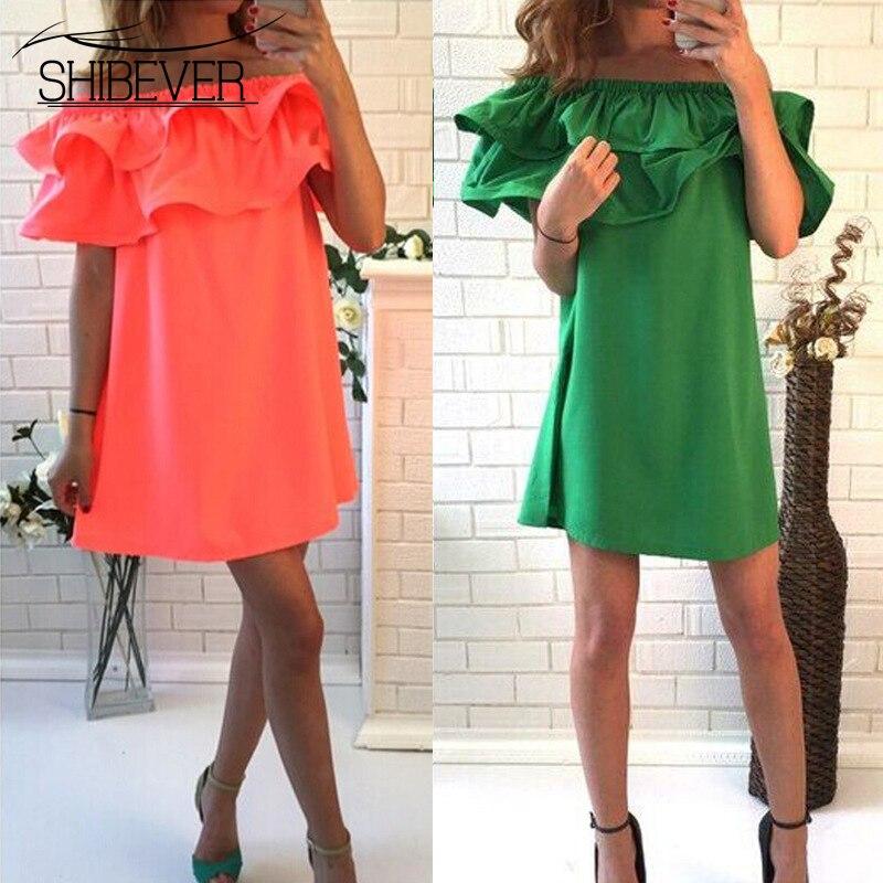 SHIBEVER Mujeres Vestidos  del verano de la colmena del vestido más el tamaño de