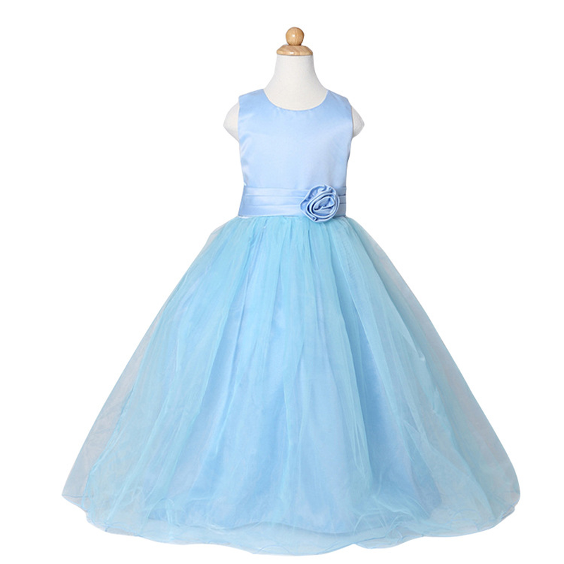 Baby Girl Dresses Children Clothes Shining Floral Party Dress for Girls Kids Wedding Tutu Dress Princess Birthday Costumes