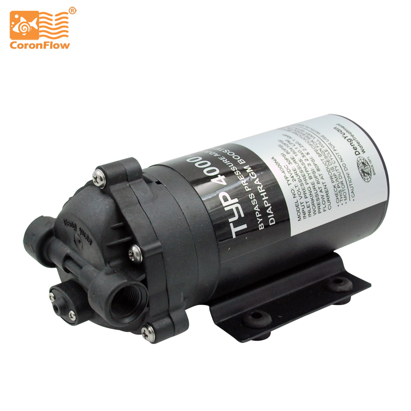 400GPD Water Filter RO Booster Pump TYP-4000NA  Reverse Osmosis Drinking Water ro water filter parts 24vdc water pump high pressure booster for 50 75 gpd machine increase reverse osmosis system pressure
