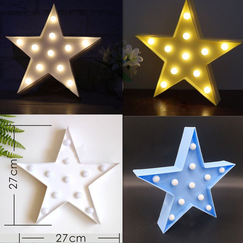 New Decorative Light Star Shape LED Plastic Marquee Light Battery Operated LED Marquee Sign for Home Christmas Decoration P20