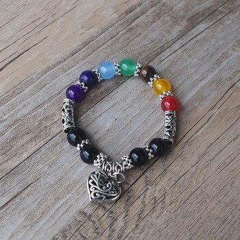 7 Chakra Bracelets Bangle Healing Stone Pray Mala6