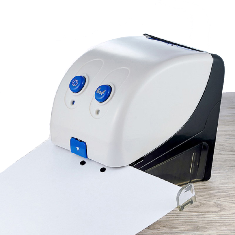 Electric Hole Punch And Stapler Office Stationery Punching Device Document Paper Automatic Punching Binding Machine (20 Sheets)