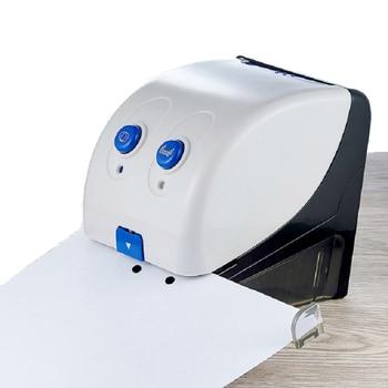Elektrikli Delik Delme ve Zımba Ofis Kırtasiye Delme Cihazı Belge Kağıt Otomatik Delme Ciltleme Makinesi (20 Sheets)