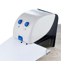 Perforadora y grapadora eléctrica para oficina, dispositivo de punzonado, máquina de encuadernación automática para papel de documentos (20 hojas)