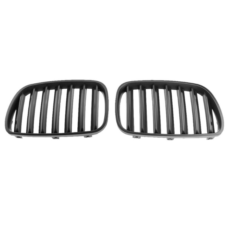 VODOOL 1Pair Matte Black Car Front Bumper Kidney Grille Car Auto Replacement Racing Grilles For BMW X3 E83 2007-2010 Car Styling 2pcs matte black front kidney grilles for bmw x5 e53 3 0 4 4 4 6 4 8 04 06 car front bumper grille for modification car styling