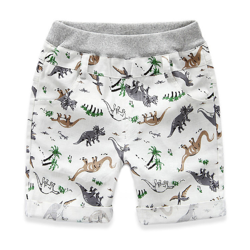 Mioigee 2018 Boys Shorts Summer Children Beach Wear Dinosaur Pattern