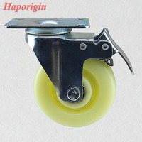4 Nylon Swivel Wheel Caster Industrial Castor Univeral Wheel 360 Degree Rolling Medical Casters Wheels Trolley