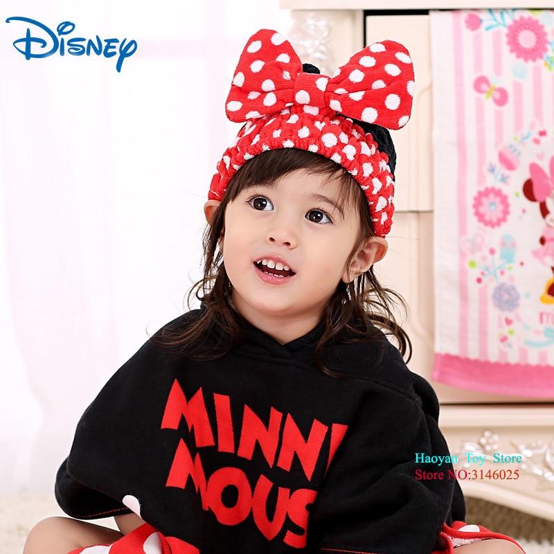 Disney Minnie Bath Shower Cap Bath Protect Soft Cap Hat For Baby Wash Hair Shield Bebes Children Bathing Shower Cap Hat Kids