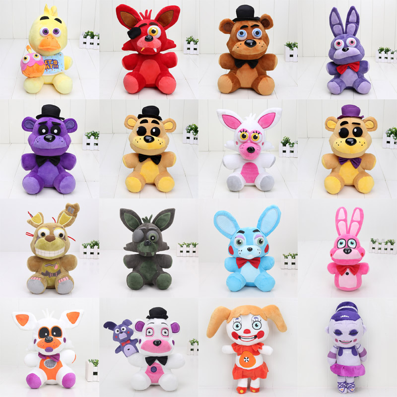 25cm - 30cm FNAF Toys Five Nights At Freddy Plush Toy Bear Fox Bonnie Chica Golden Freddy Nightmare Fredbear Kids Plush Toys