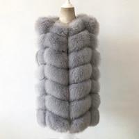 Free shipping female real fur coat 100% natural fox fur vest European popular casual fur jacket