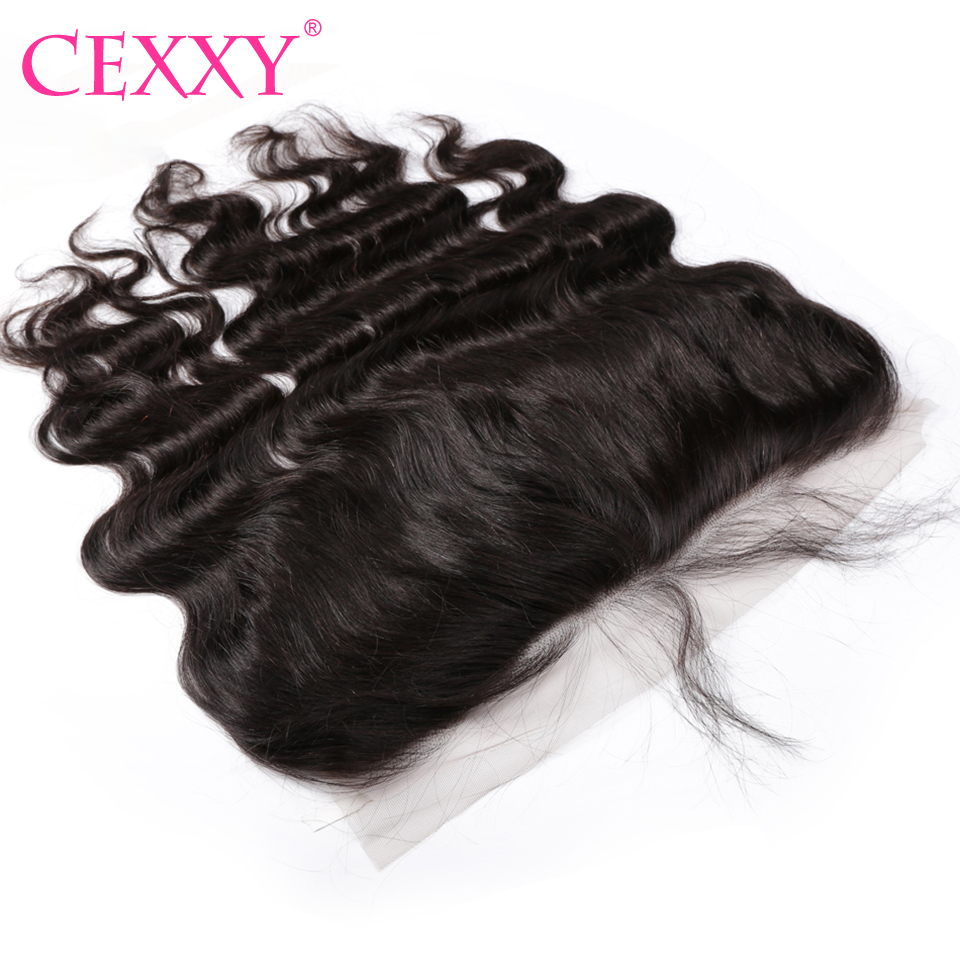 Cexxy 13x6 Lace Frontal Malaysia Body Wave Pre Plucked With Baby Hair Frontal Natural Color Human