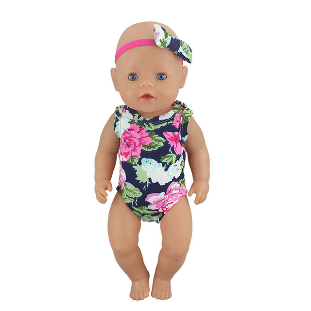 1pcs Fashion Swim Suit Fit For Baby Reborn Dolls 43cm Doll Clothes 3