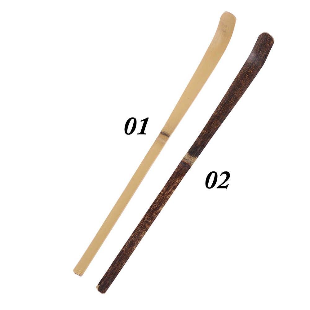 180*10*10mm madeira utensílio de cozinha utensílios de chá spice gadget folha chá matcha varas colher utensílios de cozinha de bambu preto ferramenta