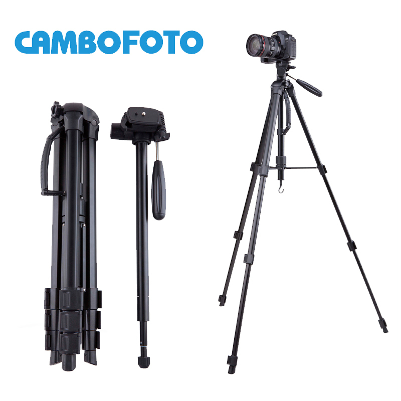 Prix pour CamboFoto SAB264 5 KG ours aluminium manfrotto stand professionnel caméra trépieds pour Canon Nikon vidéo dslr trépied 360 tête Fluide