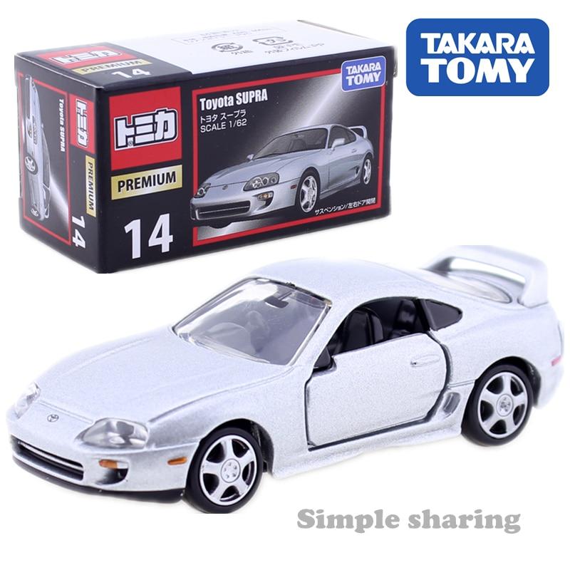 Takara Tomy Tomica Premium No. 14 Toyota Supra RZ  AUTO Super Sports Car Motors Vehicle Diecast Metal Model New Toys