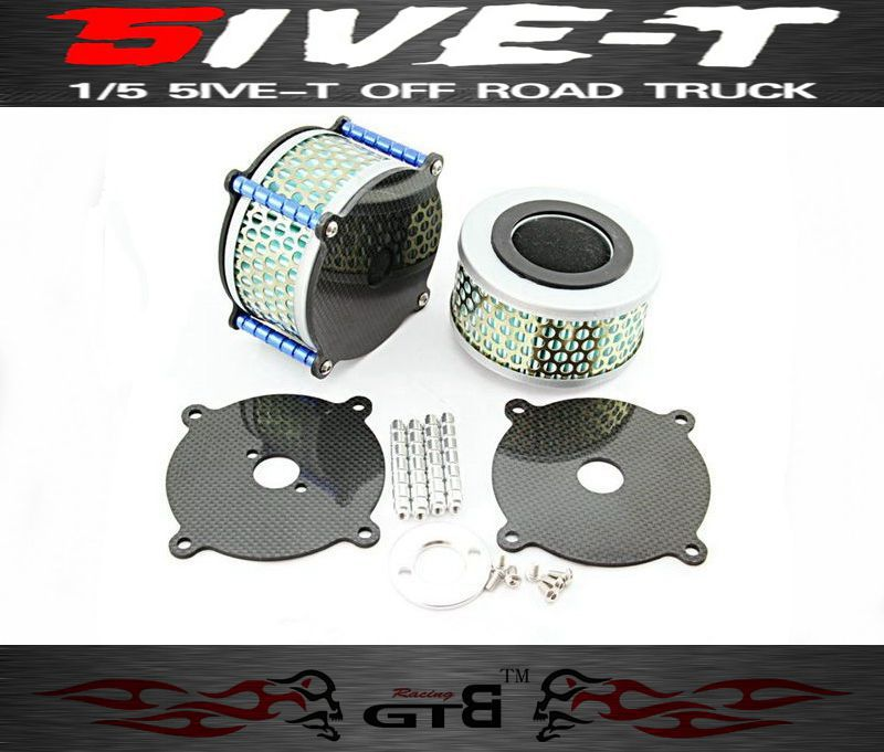 ФОТО GTB Racing Carbon Fiber Advanced Air Filter FOR LOSI 5IVE-T Losi 043 Rc Car Part