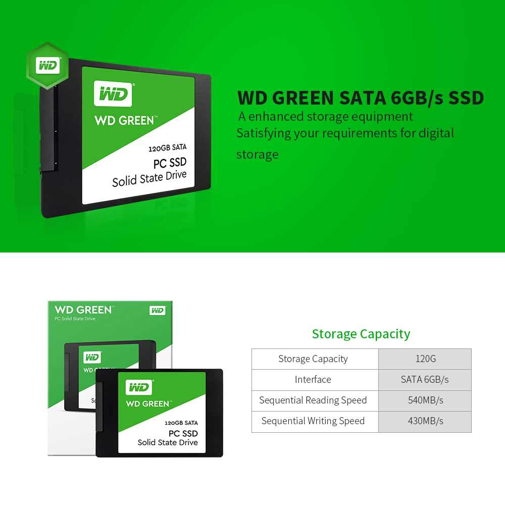 Wd Ssd Green Pc 120gb Internal Solid State Drive Laptop 240gb 25 Sata Sabit Hard Disk Interno Hd Harddisk Western Digital In