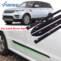 smRKE Car styling Rubber Doors High Quality Side Anti Scratch Protector Bumper Guard Scratch Guard Sticker Label For Land Rover
