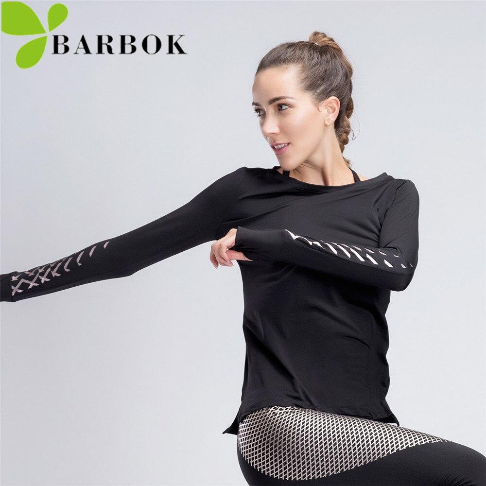 BAOBOK Spring Women Long Sleeve Yoga Shirts Sports Jerseys Sportswear T-shirts Gym Top Jogging Training Running Fitness Clothing
