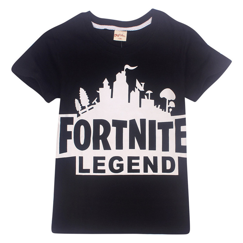 2018 Children Fortnite Game Design T-shirt Kids Baby Cool Clothes T shirt Boys Girls Summer New Fashion Tops Tee 6-14 Years Old