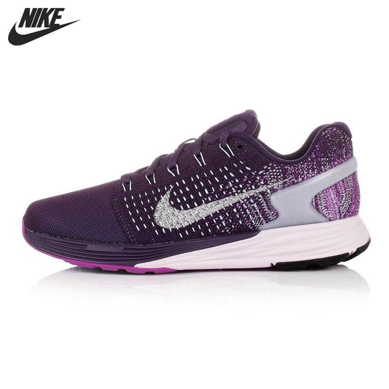 brand new 99ef5 45958 ... czech rosado negro original nike lunarglide 7 flash zapatos corrientes  de las mujeres zapatillas de deportechina