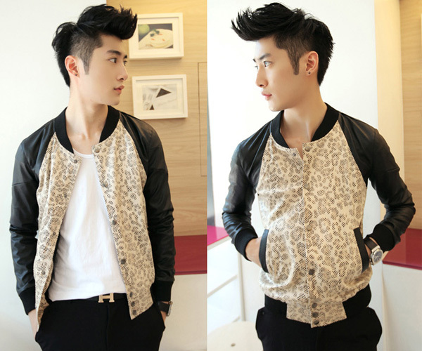 d052201de US $45.99  Free Shipping New Design Style Men's Special Leopard Cool  Baseball Bomber Slim Jacket Coat 4 Size-in Jackets from Men's Clothing on  ...