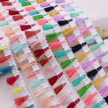 1Yards/Lot Lace Ribbon Sewing Pom Pom Silk Tassel Fringe Trim Pompoms Tassel Trim 2.5cm Width Fringe Clothing Accessory Tassels недорого