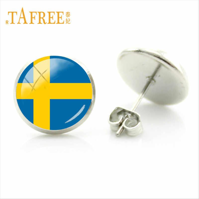 علم تركيا tafree العالم أسبانيا اليابان السويد وأقراط 28 أنماط العلم صورة الزجاج الأقراط steampunk FG87