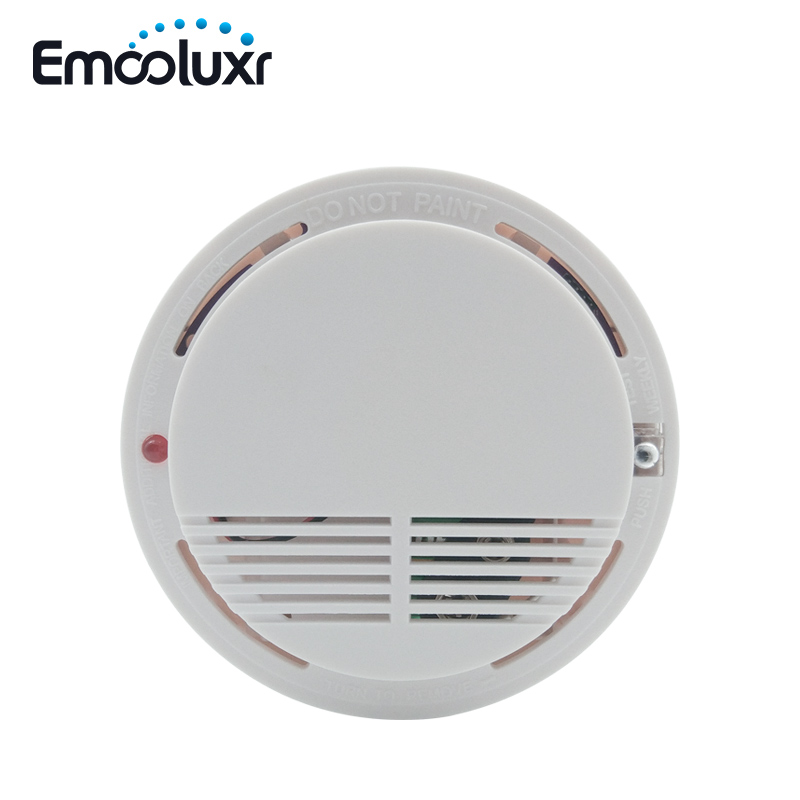 Wireless Smoke Detector Fire Alarm Sensor With Buzzer And LED Flash For WOLF GUARD Alarm System M2FX M2E G90B Plus G18 8218G S2G