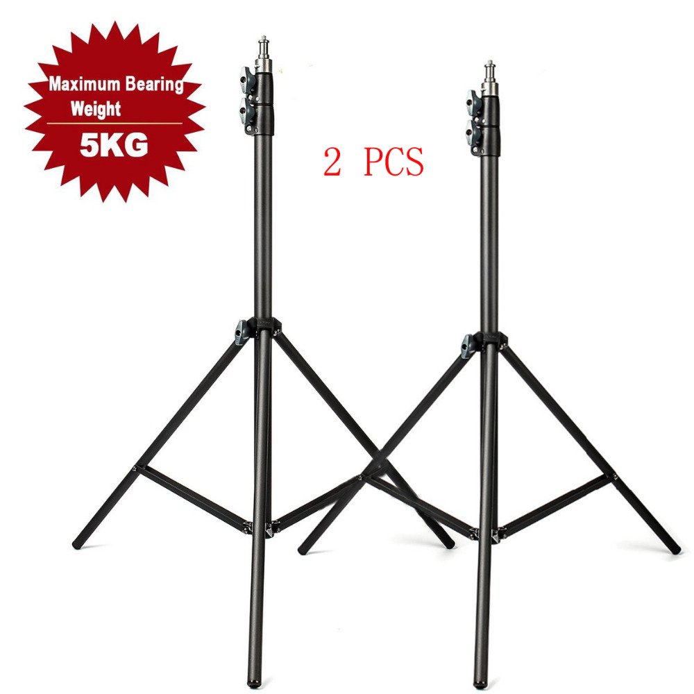 2pcs Eachshot 200cm 2m Light Stand Tripod With 1 4 Screw Head with Camera Tripod