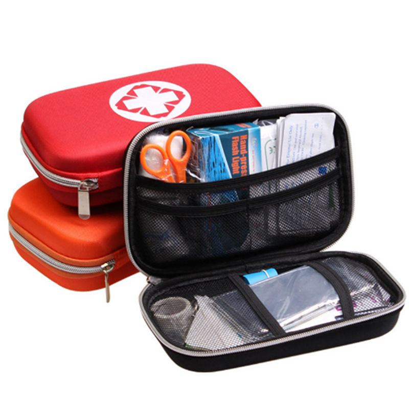 Outdoor Travel 17PCS Portable Waterproof Car Family Home First Aid Kit Bag Medical Emergency Bag Survival Box multilayer pockets portable outdoor first aid kit waterproof eva bag for emergency medical treatment in traveln family or car