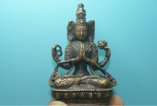Beautiful yellow copper Old Tibet Tibetan Buddhism Green Tara Buddha statue Exorcism decoration bronze factory outlets|outlet accessories|outlet|statue fashion - title=