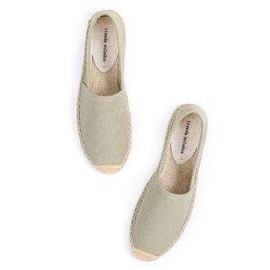 Image 4 - Schuhe Frau 2019 Direct Selling Top Fashion Leinwand Ballett Wohnungen Feste Zapatillas Mujer Espadrilles Sapatos Tienda Soludos
