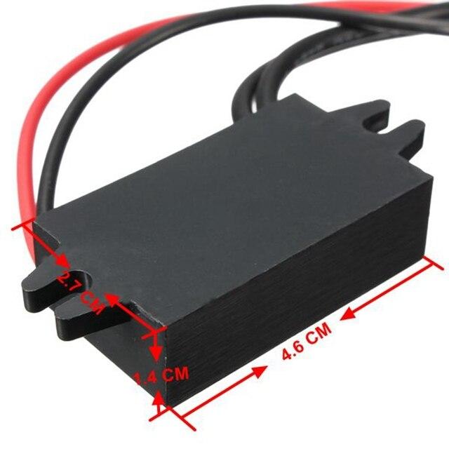 Autoleader 12V à 5V double adaptateur d'alimentation USB convertisseur Module de câble connecteur d'alimentation chargeur de voiture pour double sortie USB 2