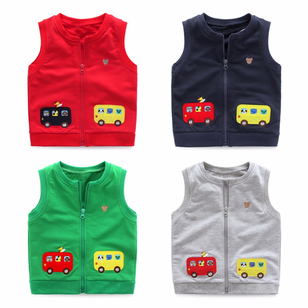 Mudkingdom Little Boys Girls Zipper Vest Waistcoat Children Sleeveless Jacket Coats Kids Baby Girl Cute School Clothes Fall 2017