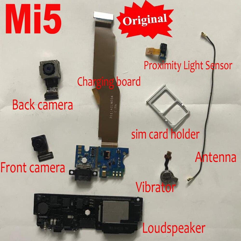 Original USB Charging Board Flex Cable Main Big Back Rear Camera For Xiaomi Mi5 M5 Mi 5 Loudspeaker Proximity Light Sensor