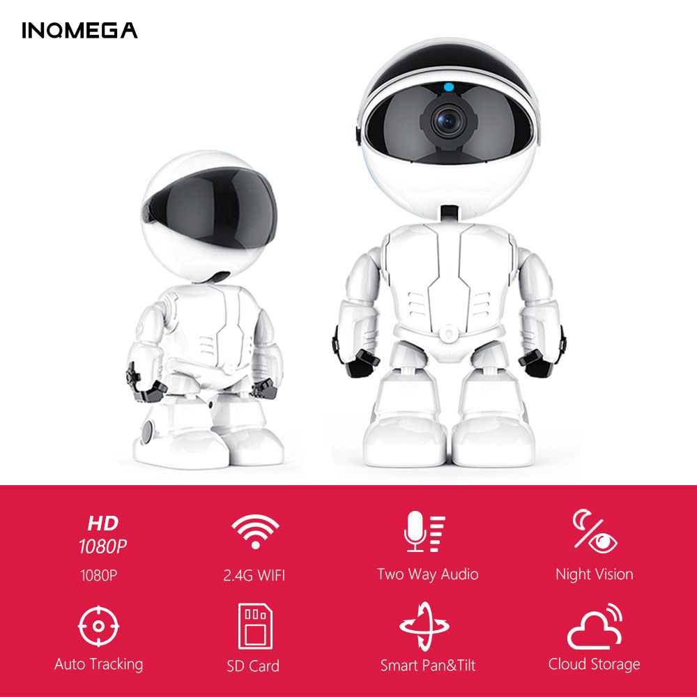 INQMEGA 1080P Cloud IP Camera Robot Intelligent Auto Tracking Camera Wi-fi  Robot Camera Home Security Wireless CCTV Camera