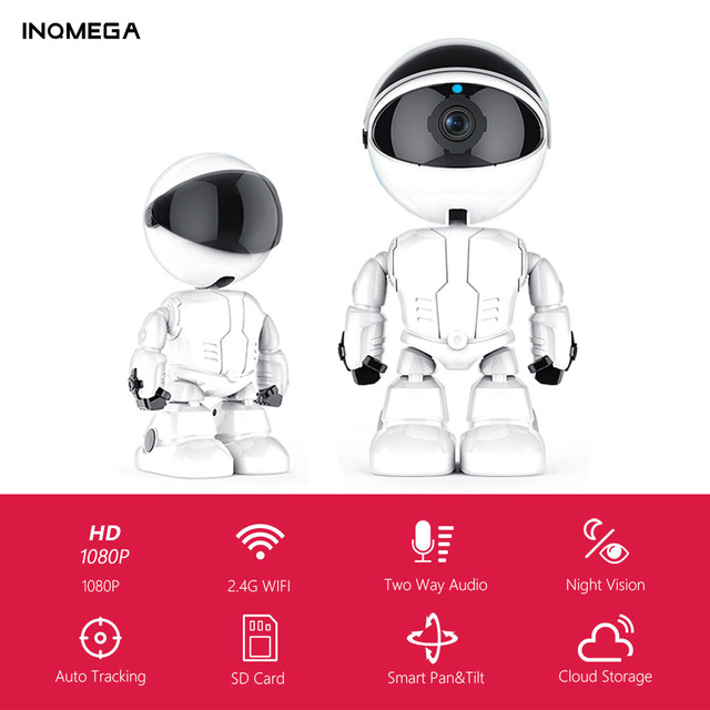 INQMEGA 1080P Cloud IP Camera Robot Intelligent Camera Wi fi Robot Camera Home Security Wireless CCTV Camera