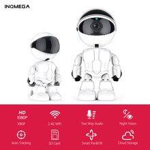 INQMEGA 1080P سحابة IP كاميرا روبوت ذكي كاميرا واي فاي الروبوت كاميرا أمنة للبيت كاميرا سي سي تي في بدون سلك