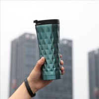 500 Ml Hot Sale Double Wall Stainless Steel Coffee Cups Mugs Thermal Bottle Thermocup Fashion Car