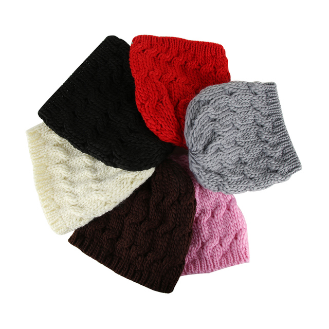 1 Pcs Fashion Girls Knitted Baggy Hat Crochet Braided Skull Cap Kids