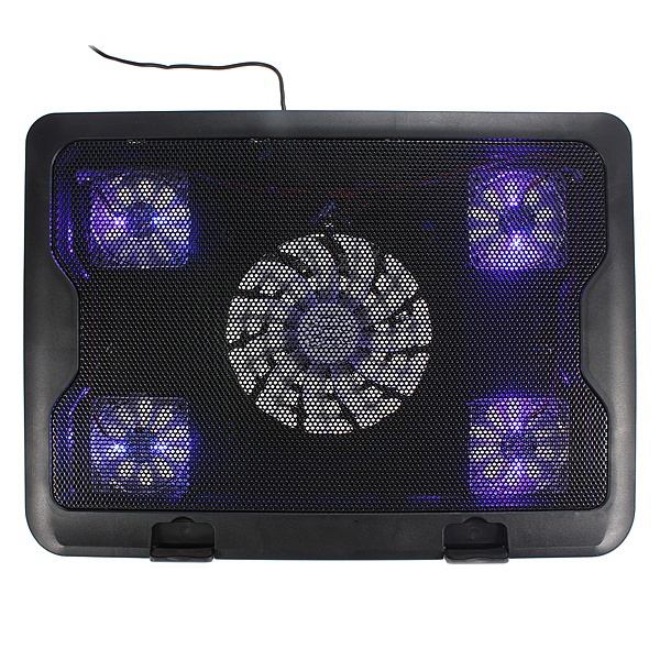 CAA-New USB Fans Blue LED Laptop Notebook Cooling Pad dual usb cooling fans