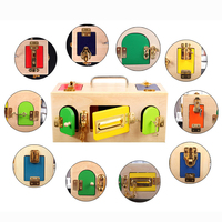 jouet bois montessori Toys educational wooden toys Lock Box Montessori Materials Sensorial Educational Wooden Toys For Children