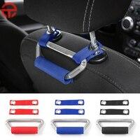 MOPAI Black Red Blue Car Interior Seat Armrest Headrest Grab Handles For Jeep Wrangler 2007 Up
